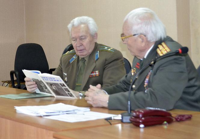 Встреча и выступление ветеранов ВОВ